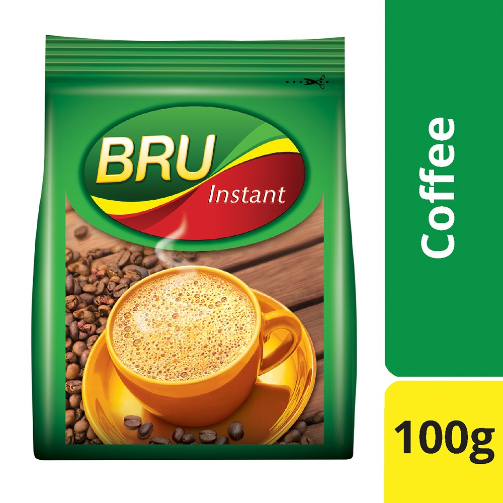 BRU Instant Coffee Pouch - 100gm