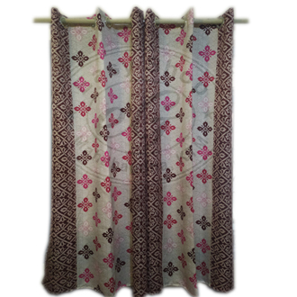 Buy 1 Get 1 free poly cotton Curtains 4x6 ft for window and door