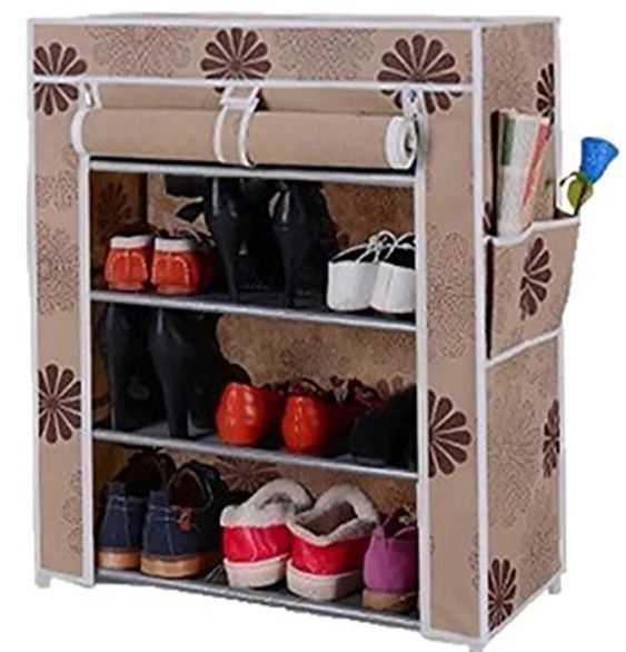 5 Layers Portable And Folding Shoe Rack (60 X 30 X 90 Cms)