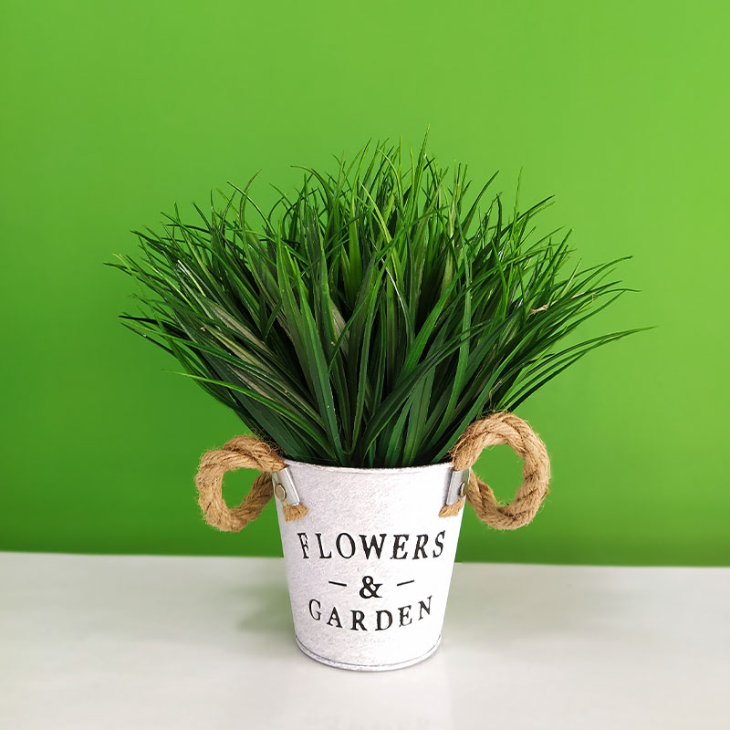 Artificial Grass with Hanging Pot