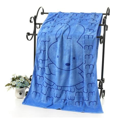 Microfiber 140X70Cm Bath Towel Absorption Blue (pattern may varry)