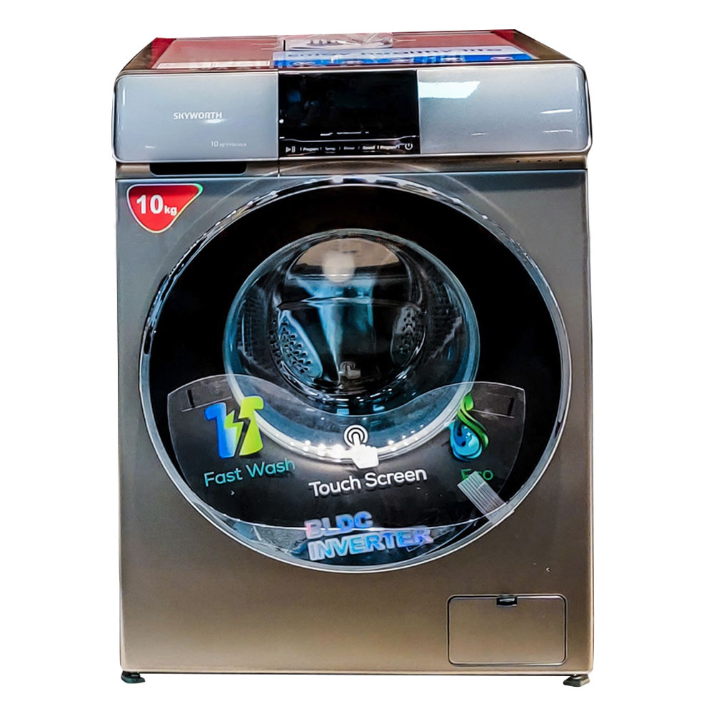 Skyworth Front Loading 10 Kg Washing Machine With Touch Led Display (F10430LBC)