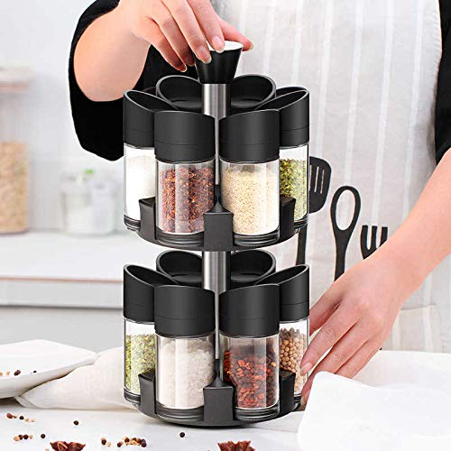 12 Pieces Double Layer Spice Rack