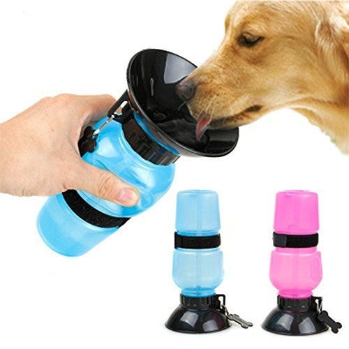 Dog Water Bowl Bottle Sipper Portable Aqua Dog Travel Water Bottle Bowl 18-oz Dog Bottle Auto Dog Mug for Pets