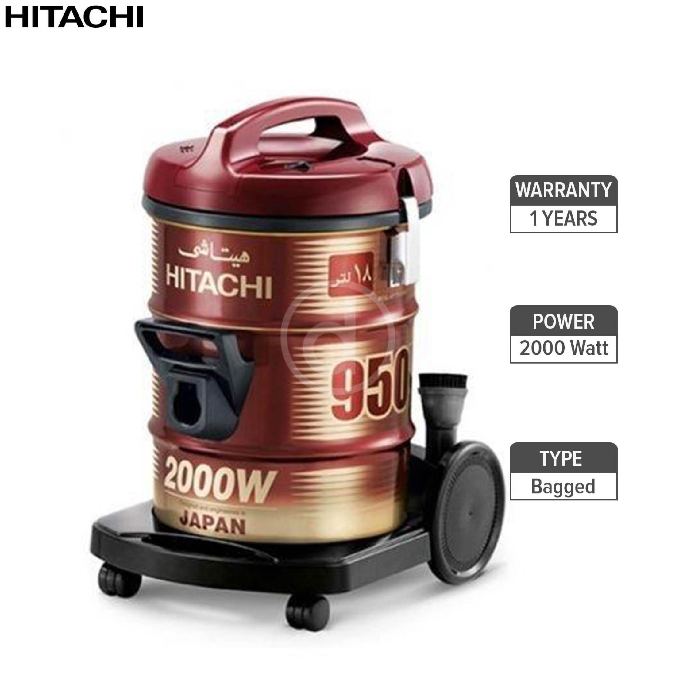 Hitachi 2000W Bag Type Vacuum Cleaner Red Cv950(Wr)