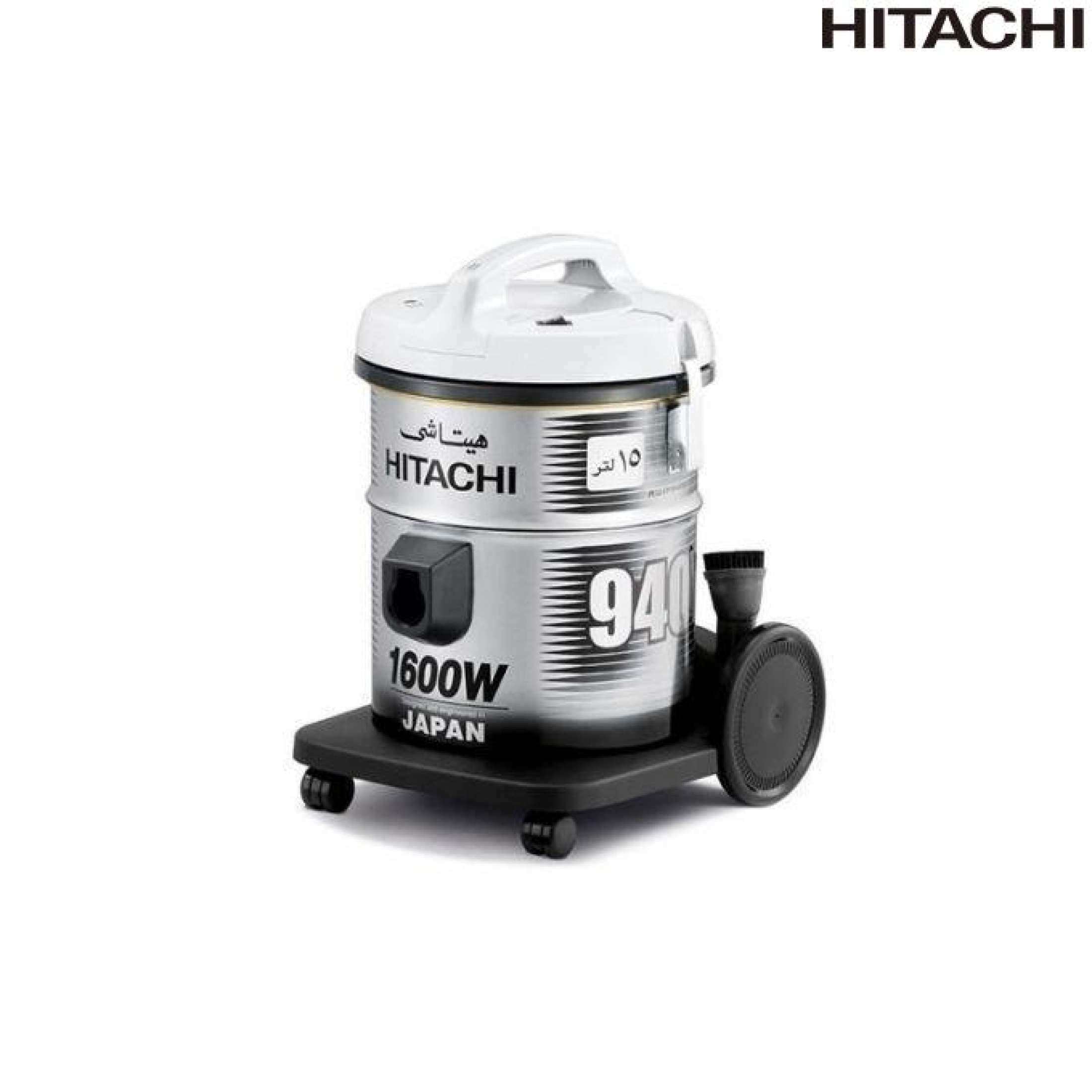 Hitachi Pail Type Bag Vacuum Cleaner Grey Cv940(Pg)