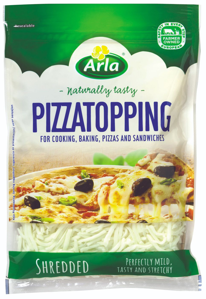 Pizza Topping  -  Arla - 2.3Kg