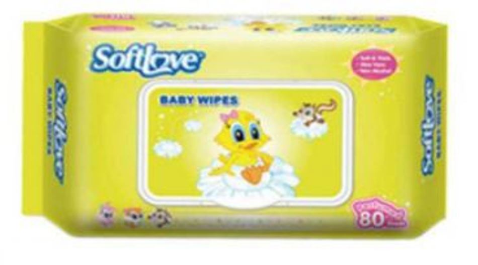 Softlove Baby Wipes 80 Sht Scented
