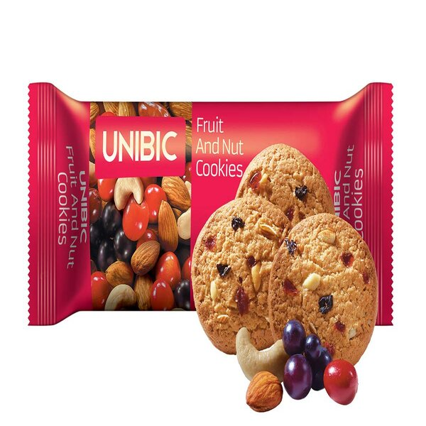 Unibis Fruit & Nuts Cookies 75Gm