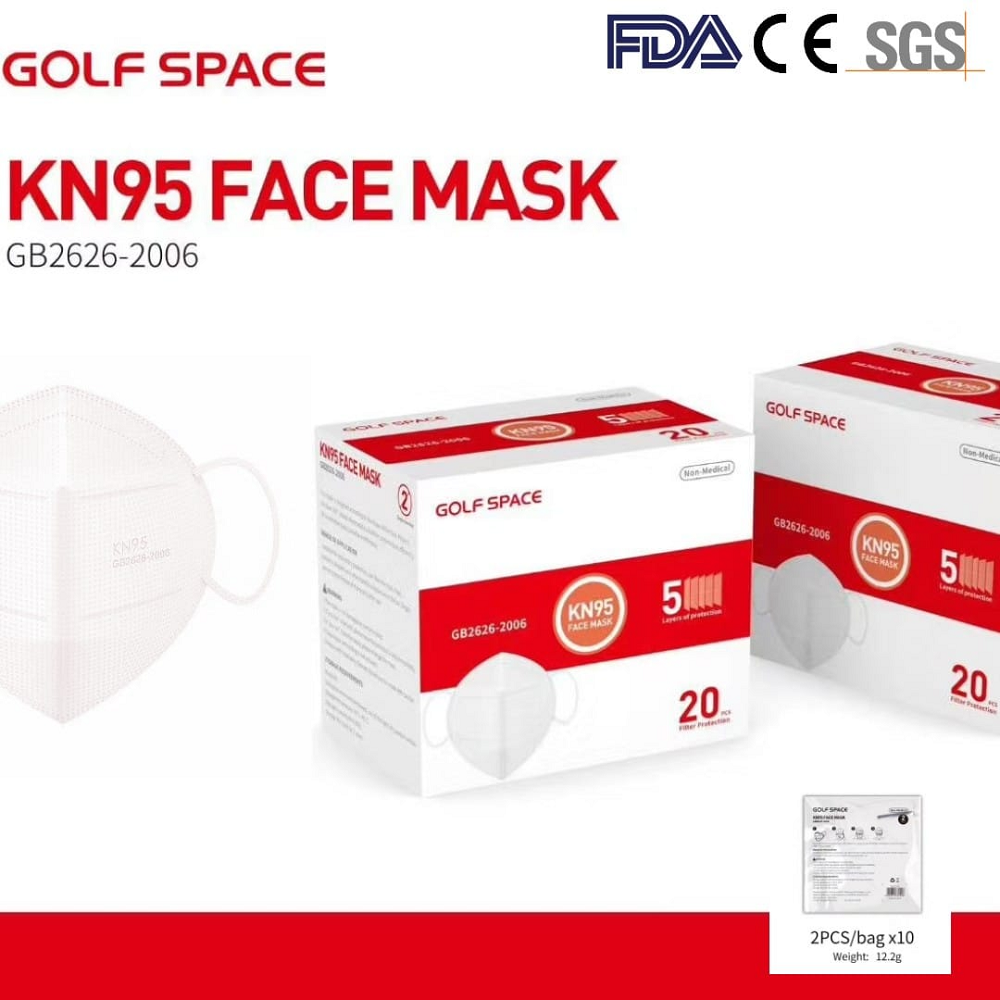 Gulf Space KN95 Non-Medical Face Mask (Box of 20pcs)- White
