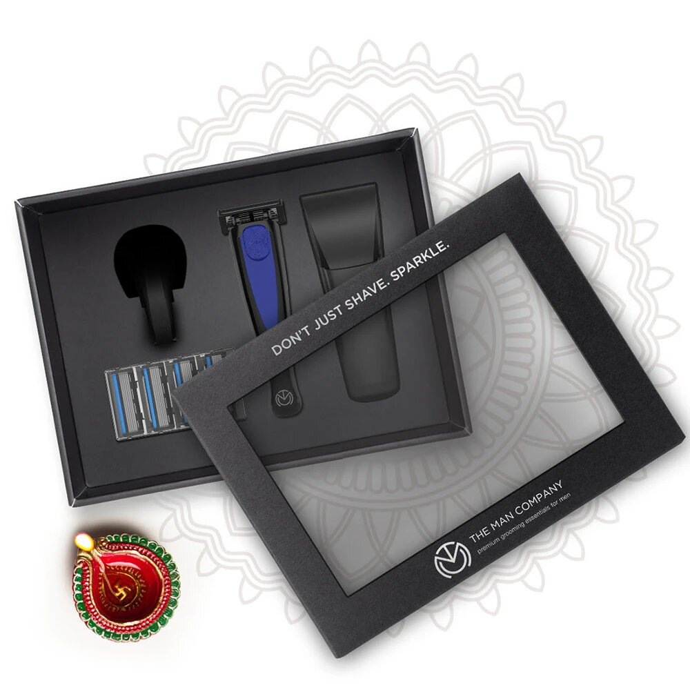 The Man Company Razor Gift Box - Midnight Blue