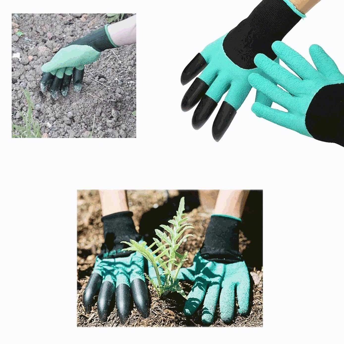 Garden Gloves Claws Quick & Easy to Dig and Plant Safe for Digging & Planting Nursery Plants, Gardening Tool