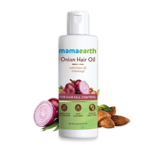 Mamaearth Onion Oil For Hair Regrowth & Fall Control With Redensyl(150ml)