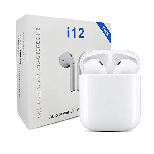 I12 TWS Airpod True Wireless Bluetooth Headset 5.0 Touch Control Sports Earbuds Headphone For Android And IOS