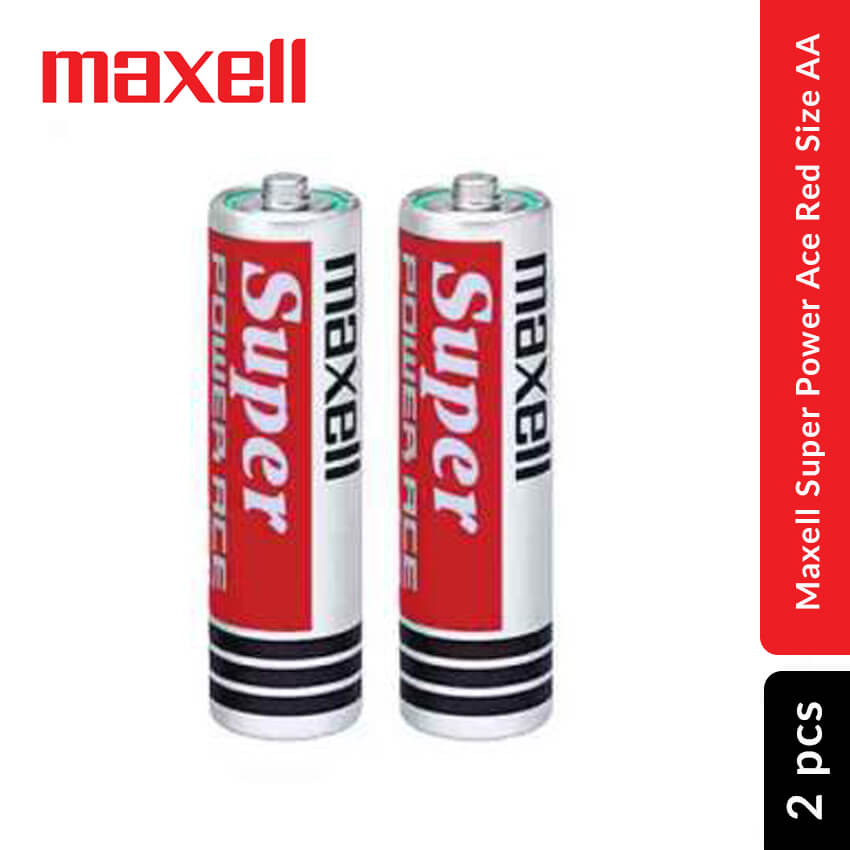 Maxell Super Power Ace Red Battery Size AA, 2 pcs