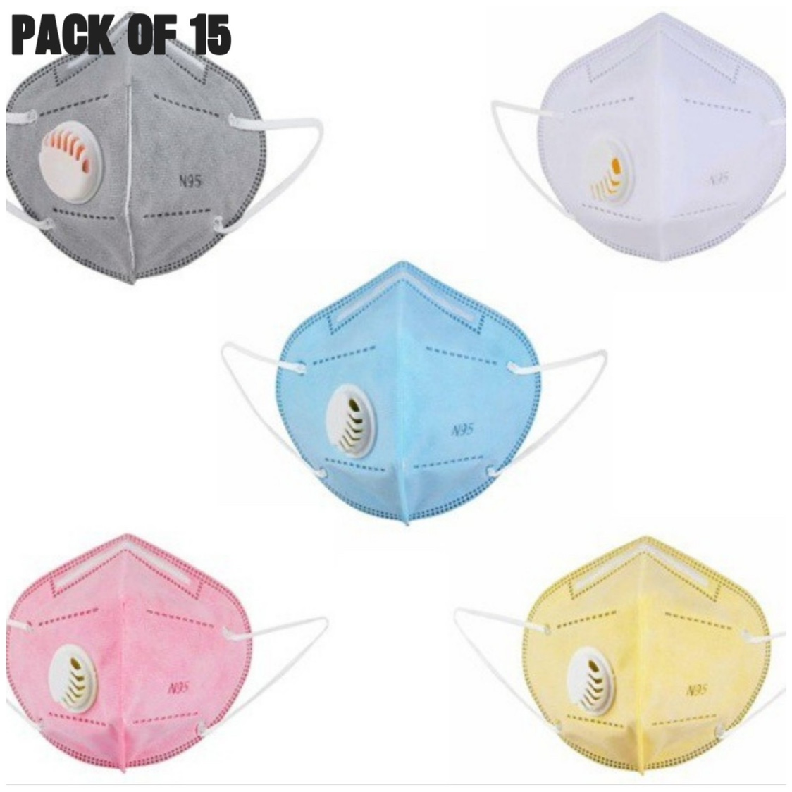 N95 Mask With Filter (Pack of 15)