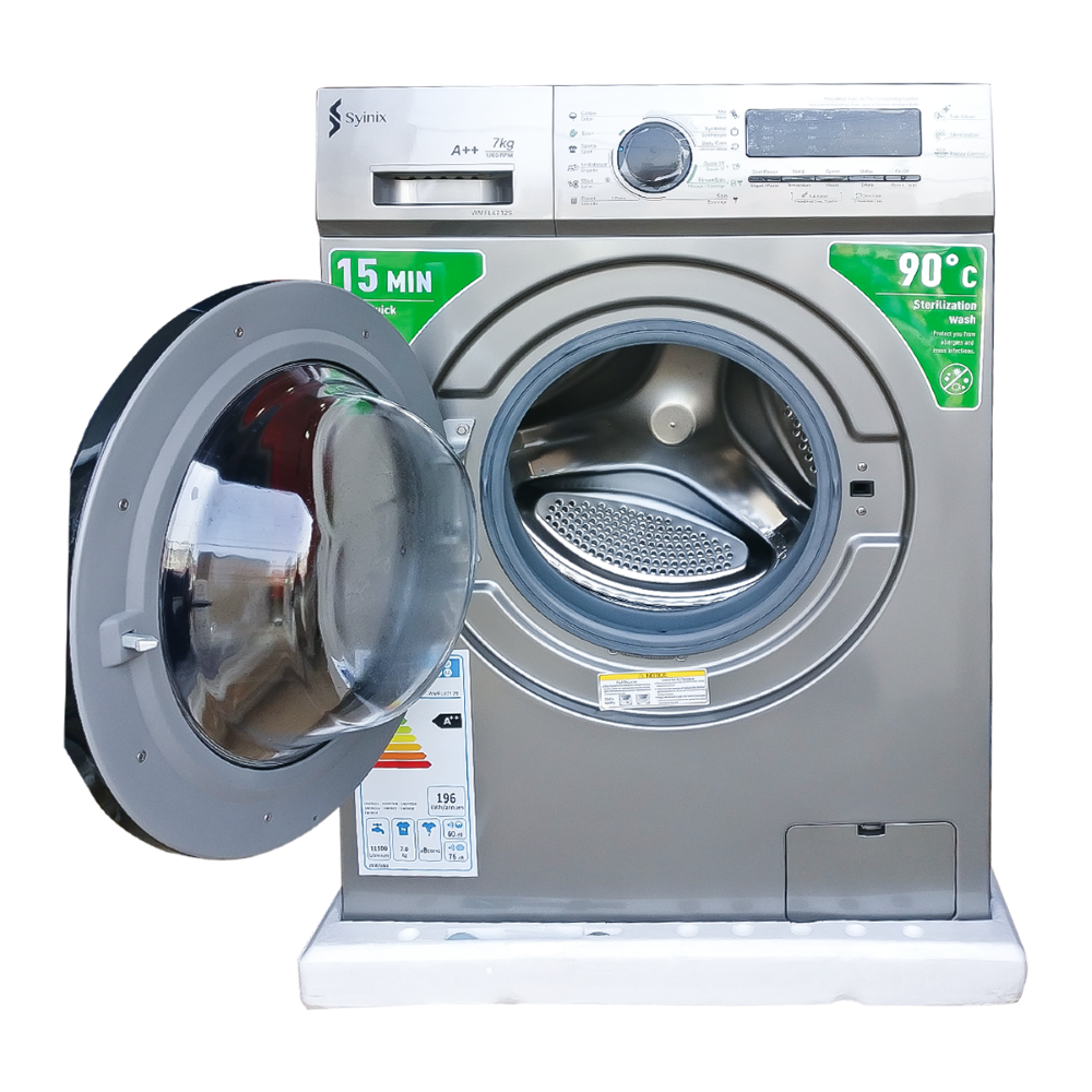Syinix S4712 7Kg Front Load Fully Automatic Washing Machine(Silver)