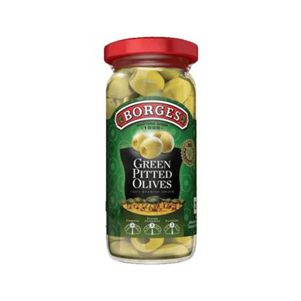 Borges Green Pitted Olives - 160 Gm