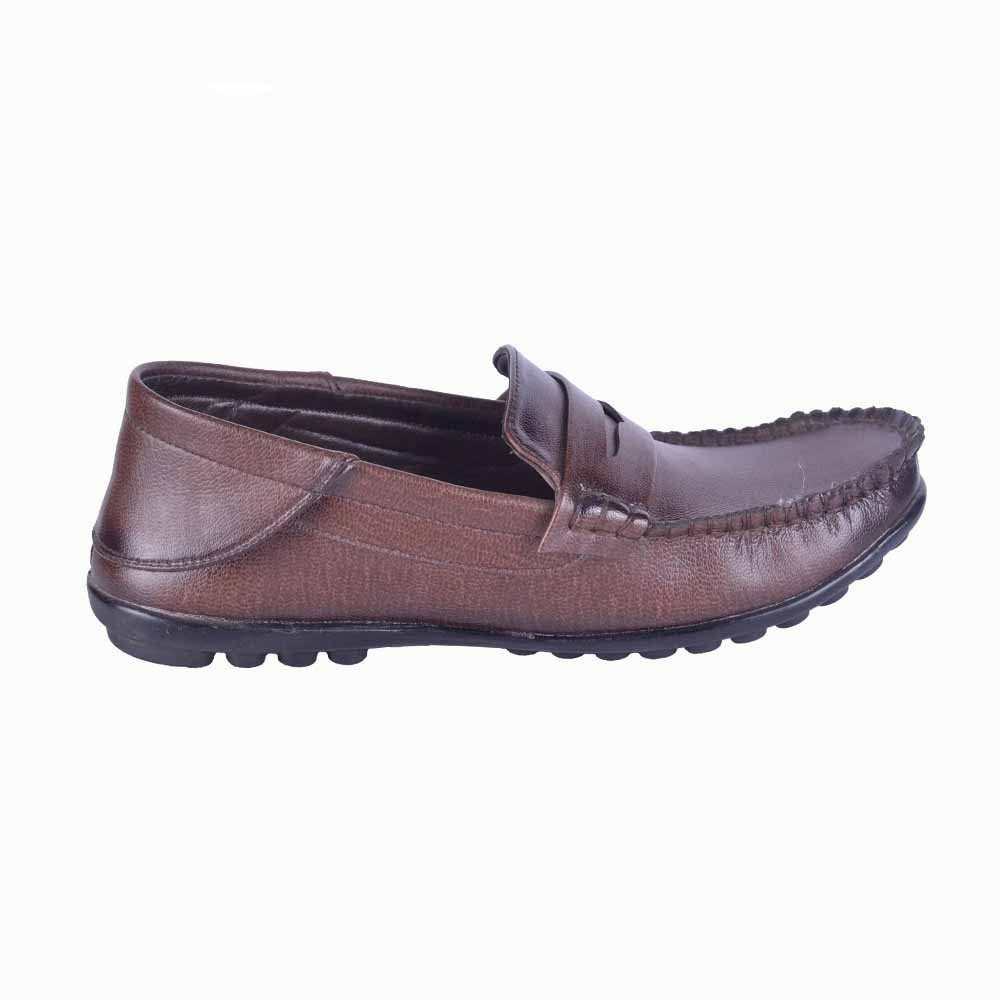Run Shoes Coffee Leather Slip On Loafer 2197cf For Men