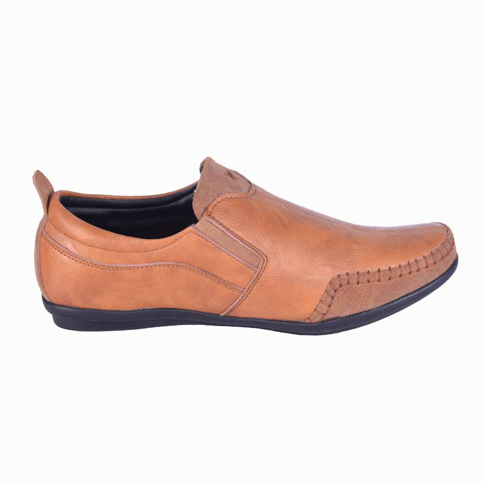 Run Shoes Brown Leather Slip On Shoes 3035br For Men