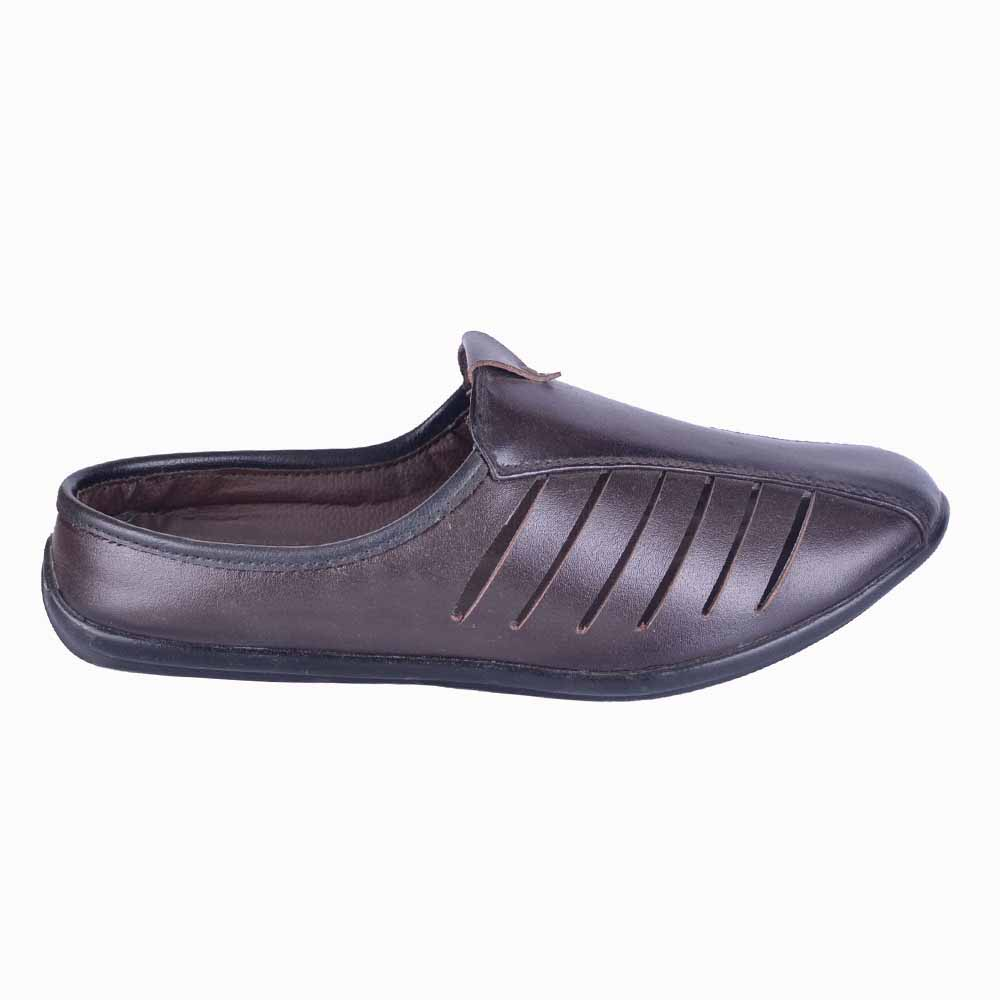 Run Shoes Coffee Leather Slip On 2162cf For Men