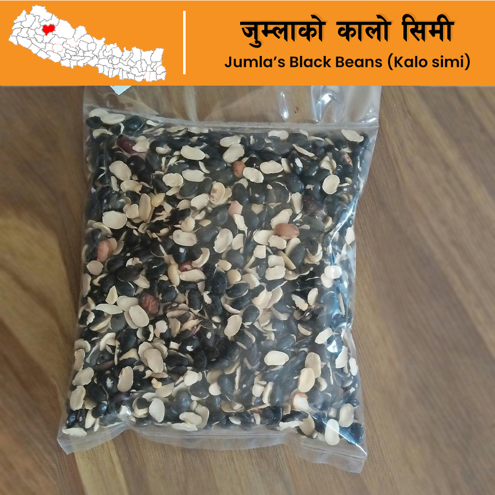 Nepal Special Kalo simi daal (Black Beans) from Jumla (500 grams)