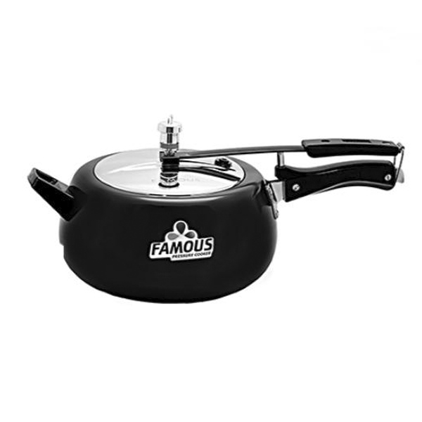 Famous Hardanodized Black Induction Base Pressure Cooker 5 Litres