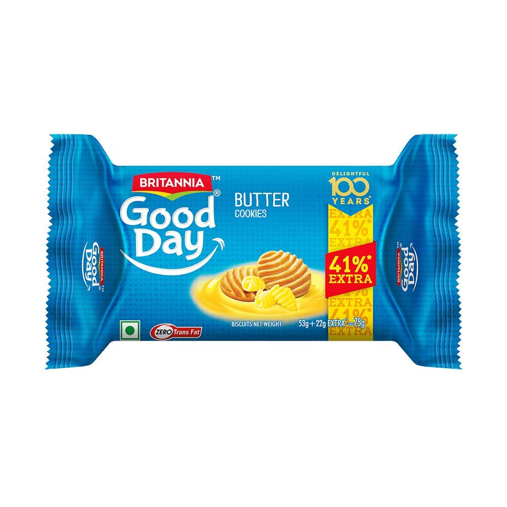 Britannia Good Day Butter Cookies - 53gm + 22gm (Pack of 12)