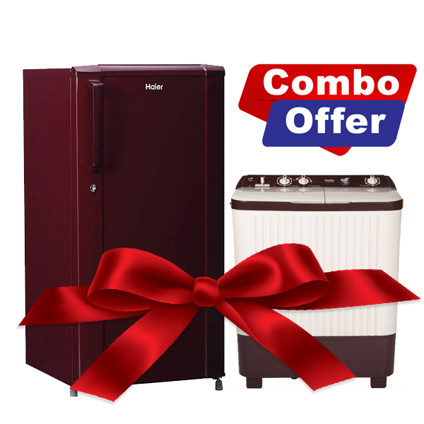 Combo Of Haier 170 Liters Refrigerator and 6.2 Kg Semi Automatic Washing Machine