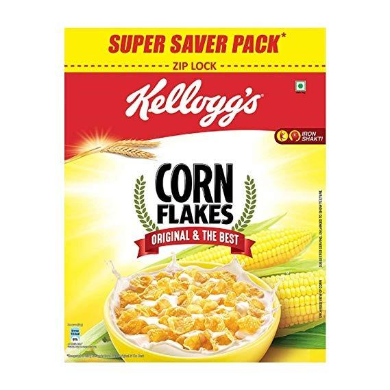 Kellogg's Corn Flakes Breakfast Cereal -875gm (25% Extra)