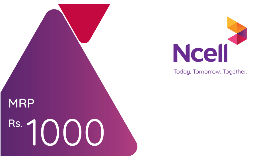 Ncell Recharge Card Rs 1000