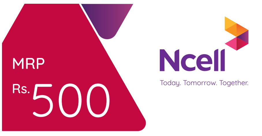 Ncell Recharge Card Rs 500