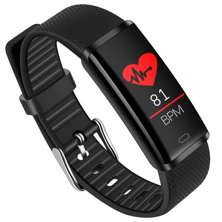Ptron - Pulse Fitness Activity Tracker Watch Band With Heart Rate   (Black)