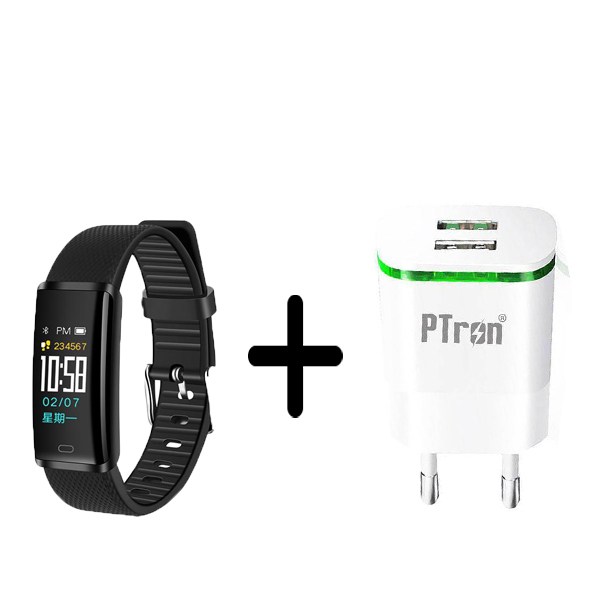 Buy Ptron Pluse Smart And Get Ptron Electra 210 Dual USB Travel Adapter (European Pin) For Free