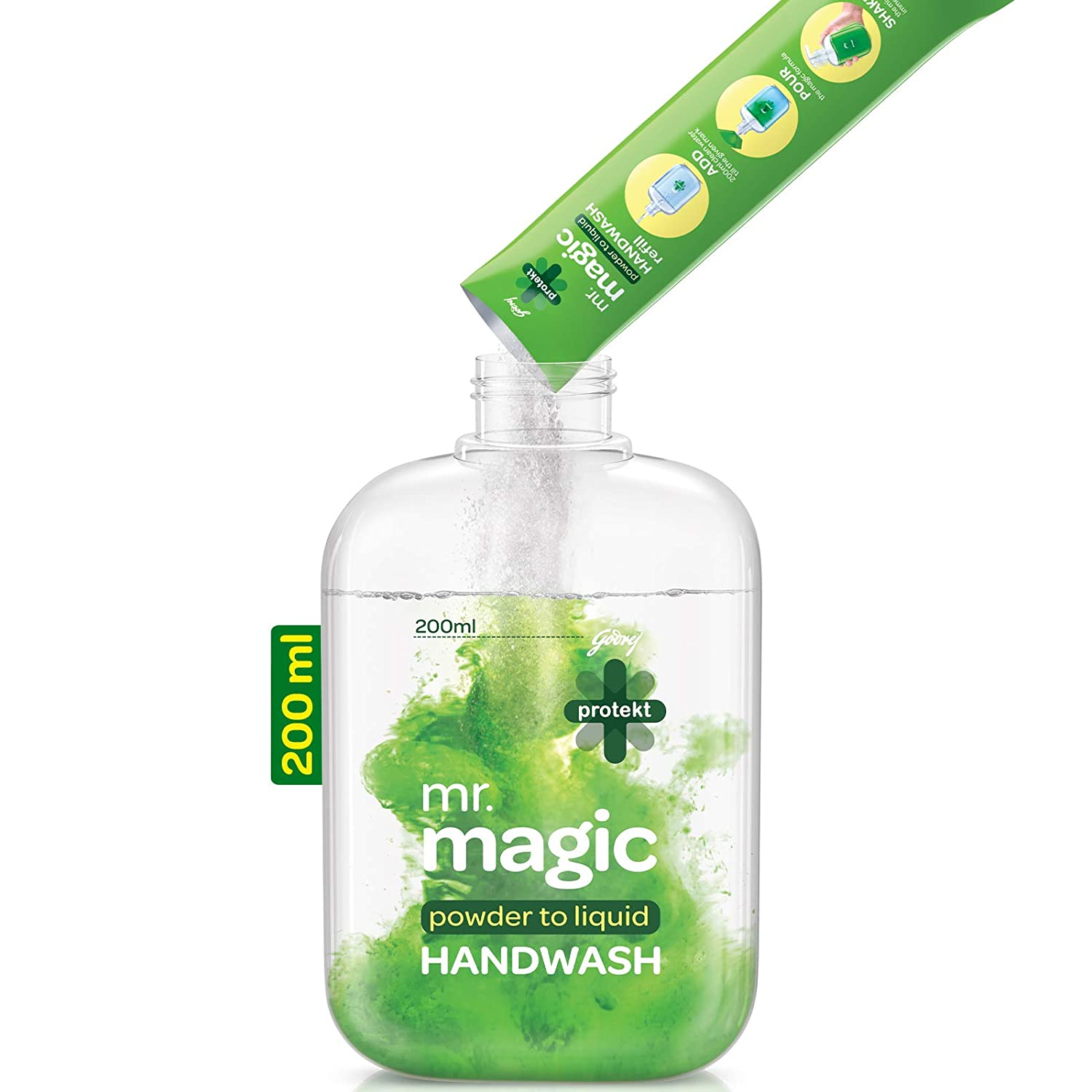 Godrej Protekt Mr. Magic Handwash Powder To Liquid Handwash 9gm COMBI