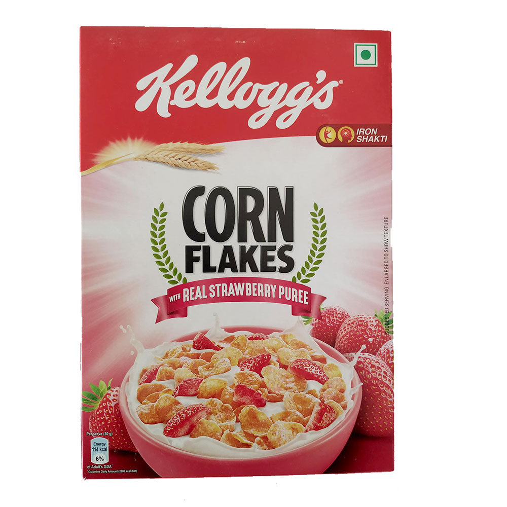Kellogg's Cornflakes  Strawberry Flavor 300 gm