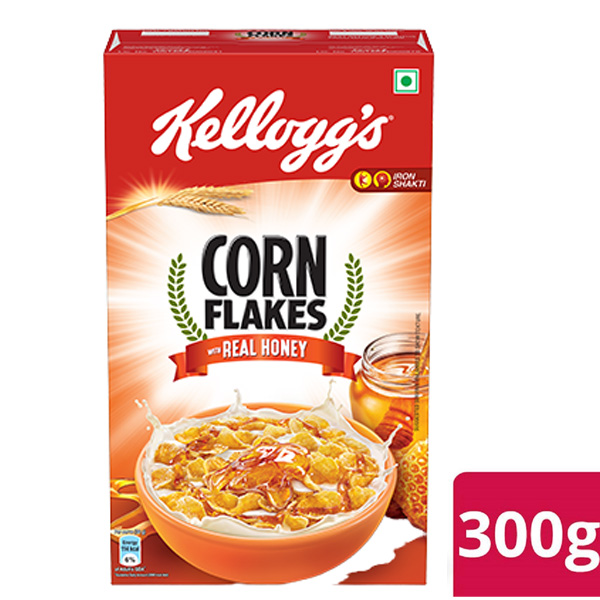 Kellogg's Corn Flakes with Real Honey 300Gm