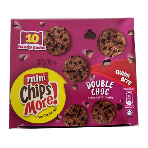 Mini Chipsmore Double Chocolate Chip Cookies 28gm