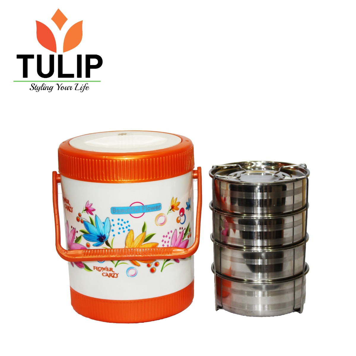 TULIP 4 Step Tiffin Box Lunch Box