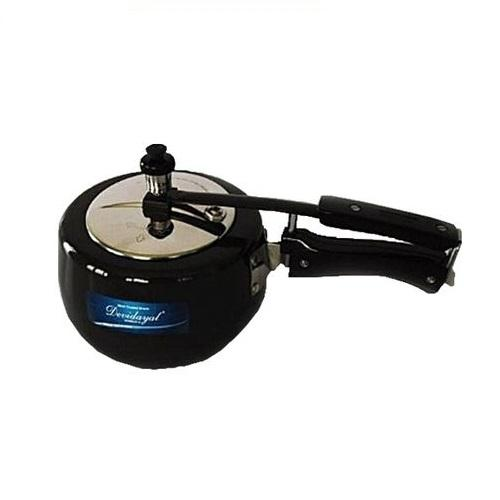 DeviDayal l Hard Anodized Induction Base Contura Pressure Cooker (5L