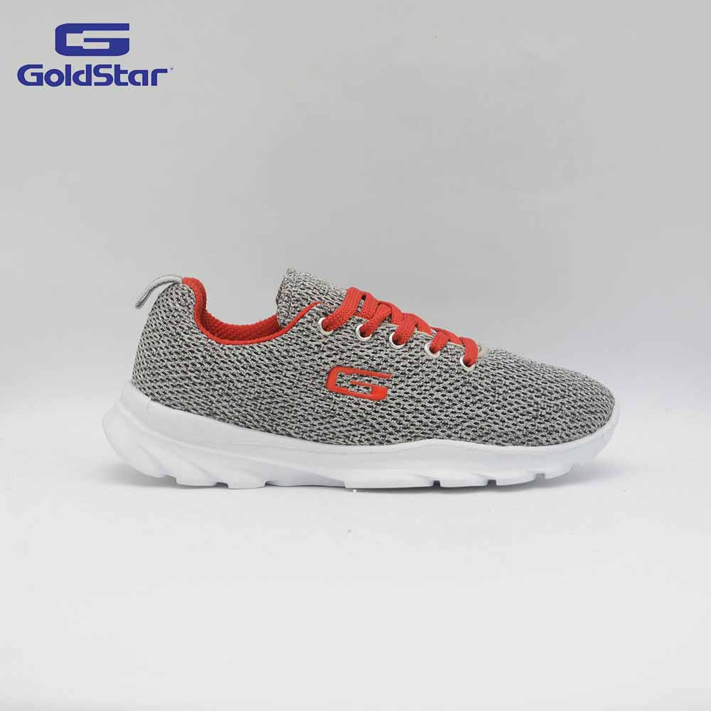 Goldstar Grey/Red Sports Shoes For Women - G10 L602