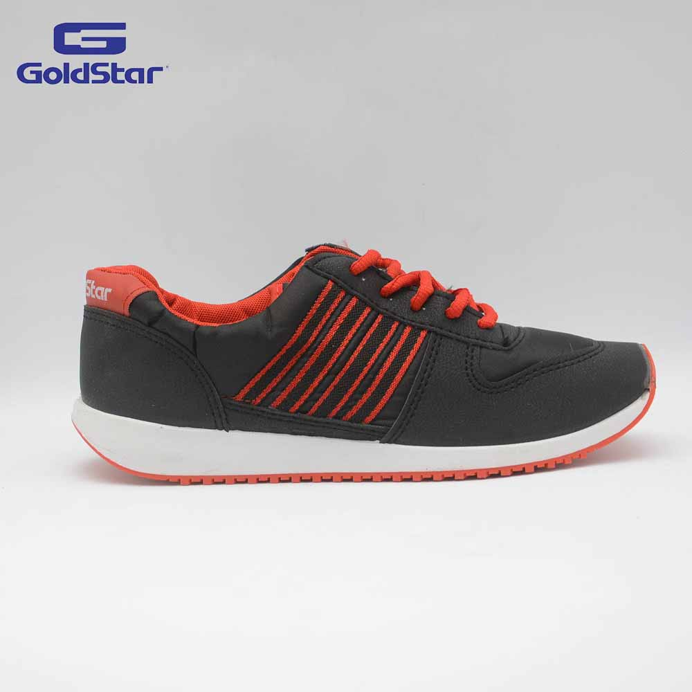 Goldstar Black/Red Sports Shoes For Women - GSL 100