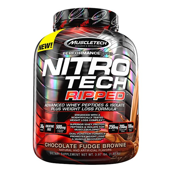 MuscleTech Nutrition Nitrotech Ripped(Whey Protein+ Weight Loss Formula) - 4LBS