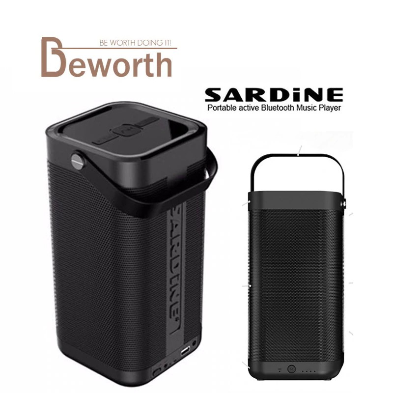 Sardine A9 Outdoor Portable Wireless Bluetooth Speakers With Built In Microphone TF card Slot- Black