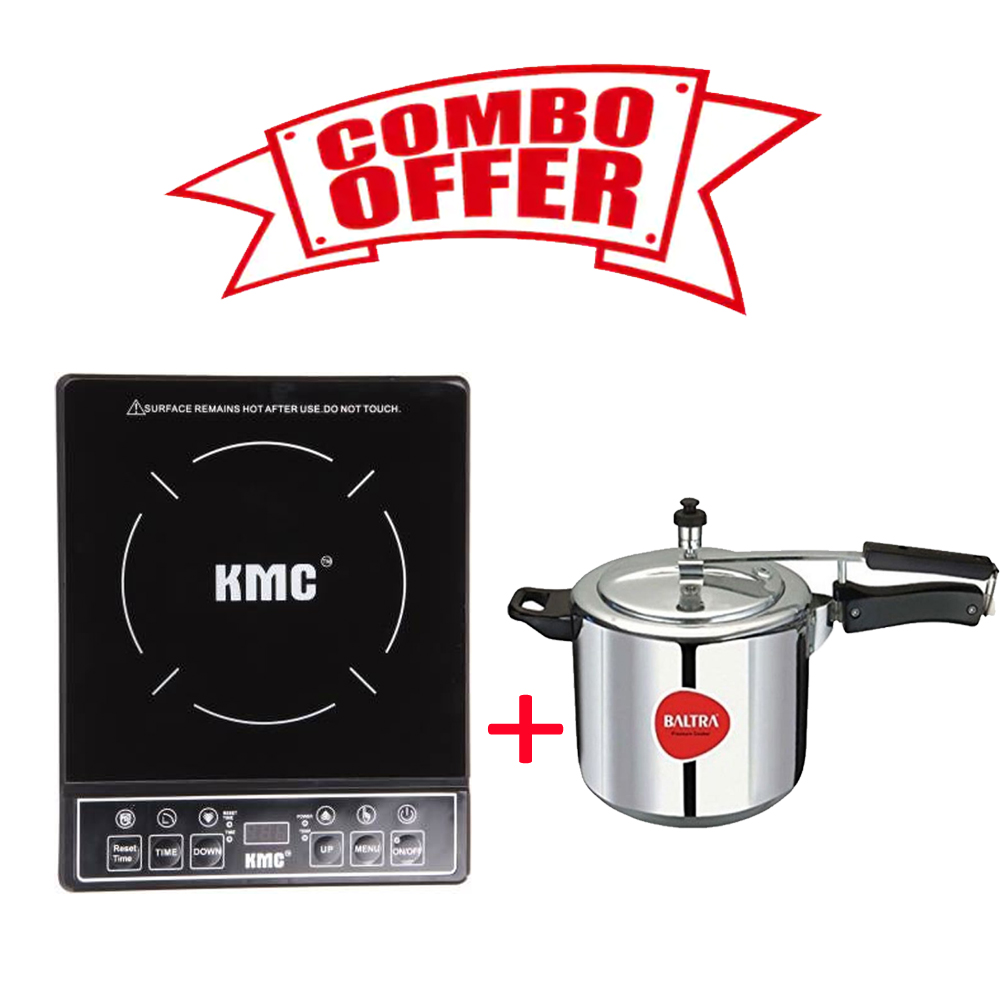 Combo of KMC Infinity Cooktop & Baltra Stella 3 Ltr Induction Based Cooker