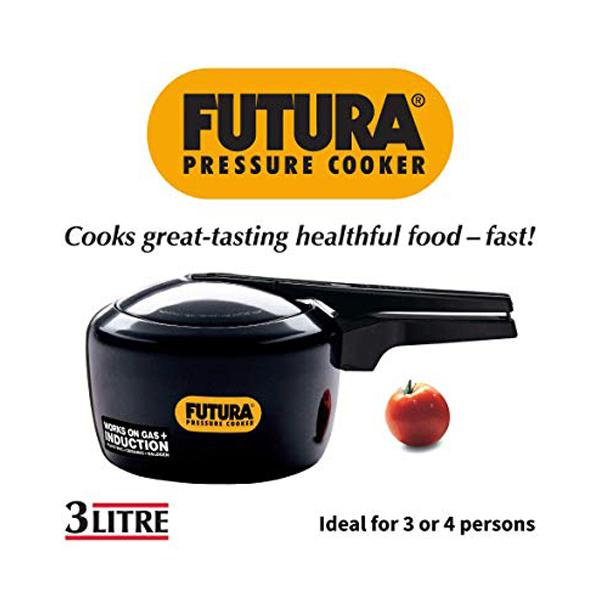 Hawkins Futura Pressure Cooker Induction Based -3 Litre