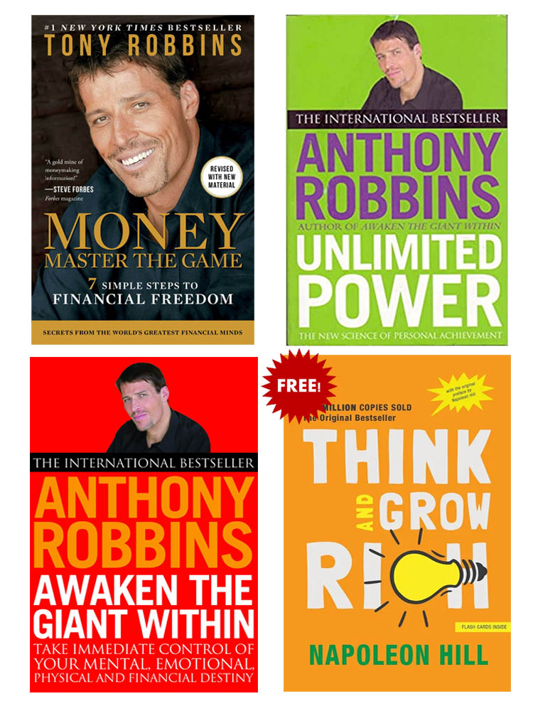 Buy 3 Get 1 FREE, Money Master The Game, Ultimate Power, Awaken The Giant Within, Think and Grow Rich