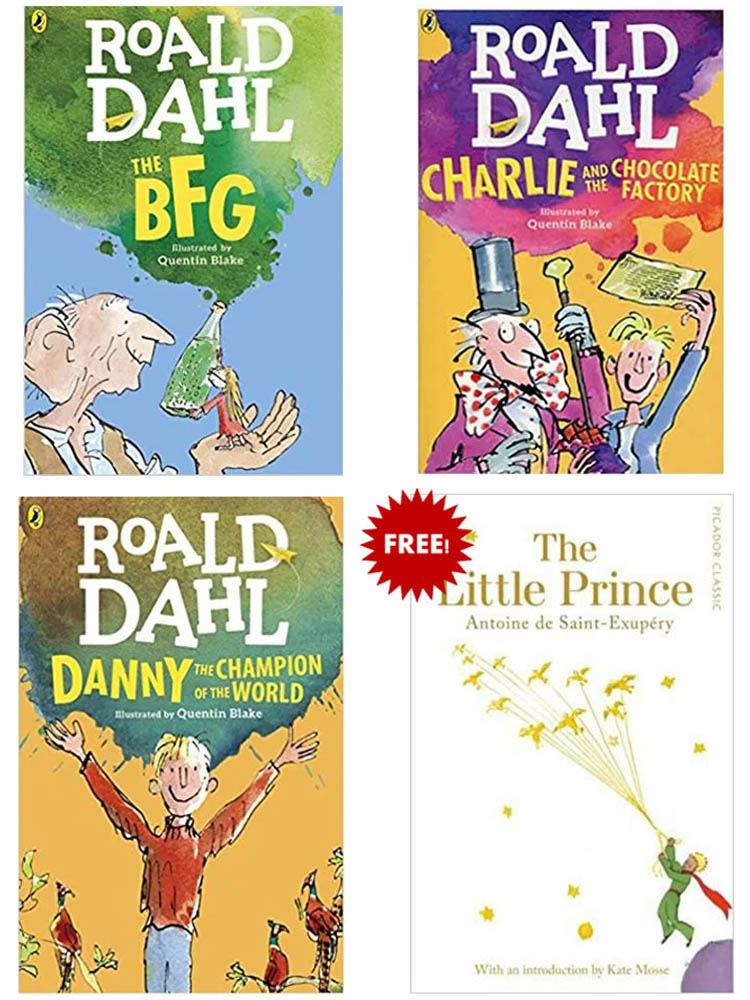 Buy 3 Get 1 FREE, Charlie and The Chocolate Factory, The BFG, Danny The Champion of The World, The Little Prince