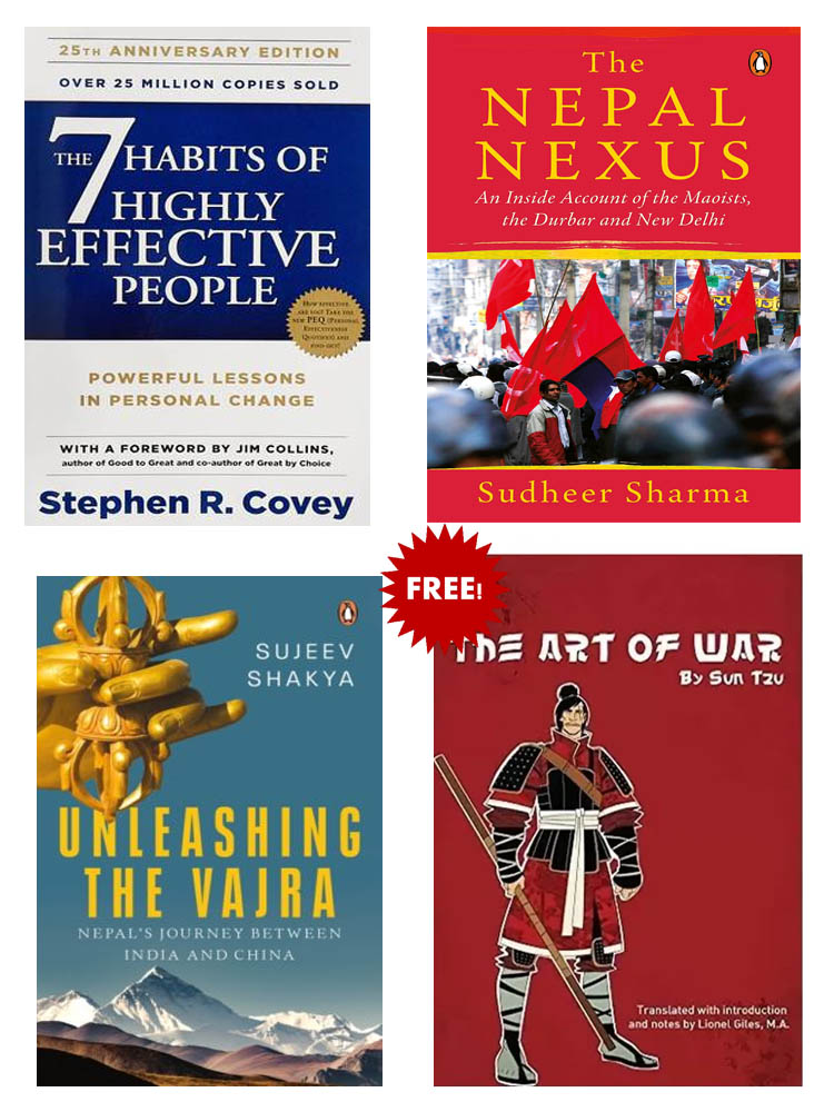 Buy 3 Get 1 FREE, The 7 Habits of Highly Effective People, THE NEPAL NEXUS, Unleashing The Vajra, The Art of War