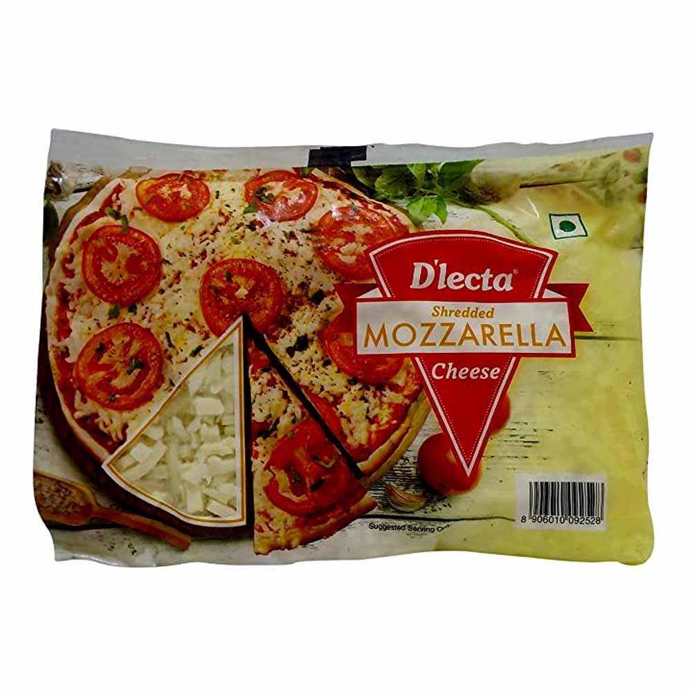 D'lecta Shredded Mozzarella Cheese 500g